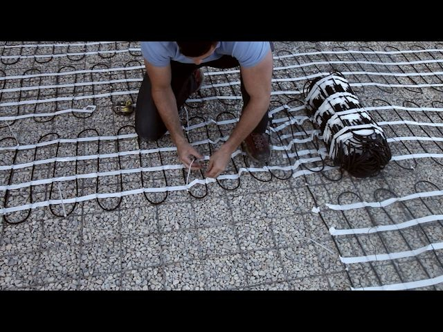 Installing snow melting mats