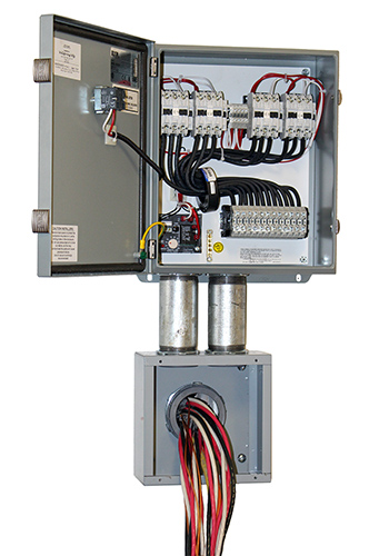 Contactor panel and box
