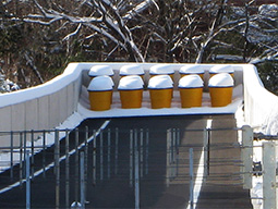Snow melting system installed in runaway truck ramp.