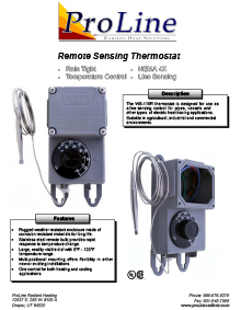 WS-115R Remote Sensing Thermostat Data Sheet