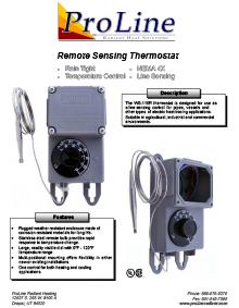 WS-115R Remote Sensing Thermostat Data Sheet