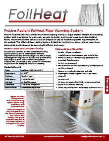 FoilHeat floor heating systems catalog breakout