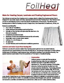 FoilHeat floor heating system data sheet