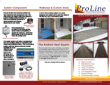 ProLine snow melting systems tri-fold brochure.