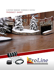 Snow melting system product sheet cover.