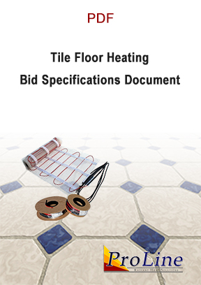 Floor heating cable bid specifications cover.