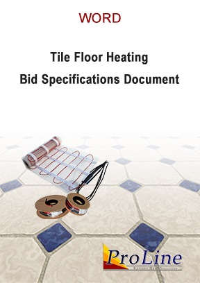 Floor heating cable bid specifications in Word.