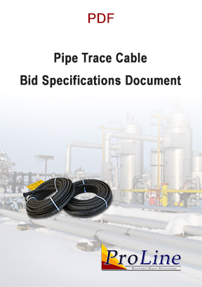 Self-regulating pipe trace cable bid specifications.