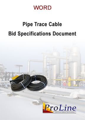 Self-regulating pipe trace cable bid specifications in Word.