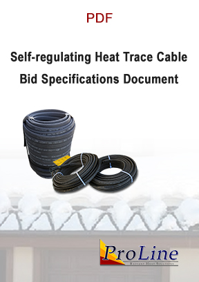 Self-regulating roof heating cable bid specifications (PDF)
