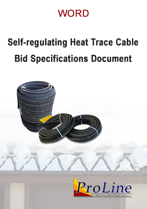 Self-regulating roof heating cable bid specifications (Word)