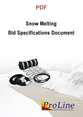 ProLine snow melting system bid specifications document cover