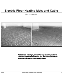 Floor heating systems installation manual