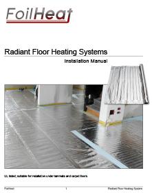 FoilHeat floor heating system installation manual