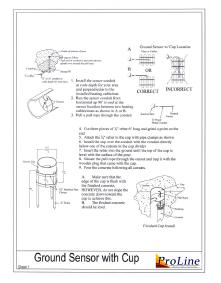 In-ground snow sensor installation instructions.