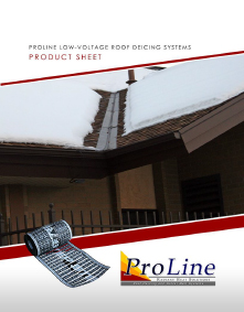 Low-voltage roof heating systems product sheet.
