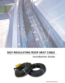 Self-regulating roof heating cable installation manual