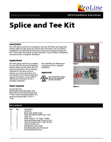 Roof Heating Cable Slice and Tee Kit Installation Instructions