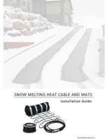 Snow melting system installation manual