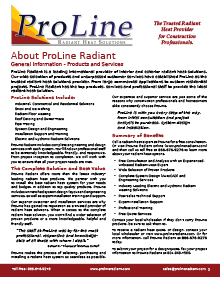 ProLine radiant heat services.