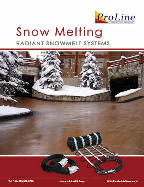 ProLine snow melting systems technical guide (product catalog breakout)