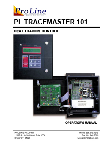 ProLine TraceMaster heat tracing control operator's manual