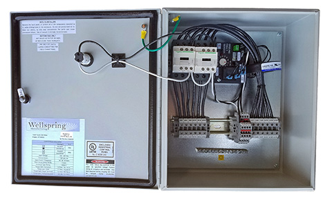 Contactor panel with GFEP