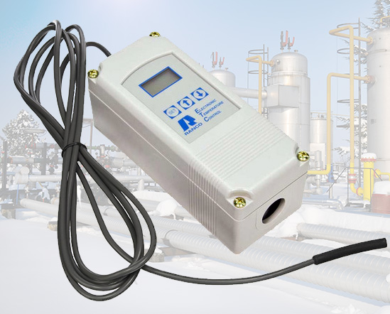 Industrial electronic sensor thermostat.