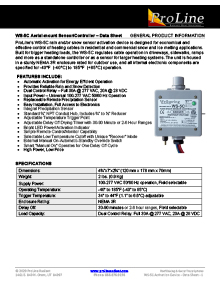 WS-5C aerial mount snow sensor data sheet