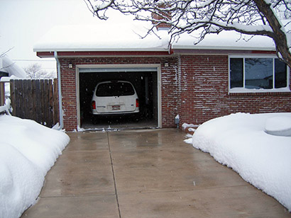 Heated driveway in Colorado.