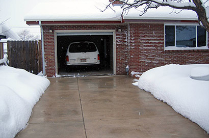 A residential heated driveway in Colorado.
