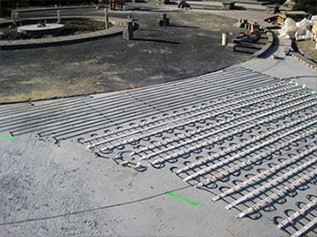 Proline radiant heat residential wholesale snow melting discounts proline snow melting system being installed snow melting system installation installing heated solutioingenieria Choice Image